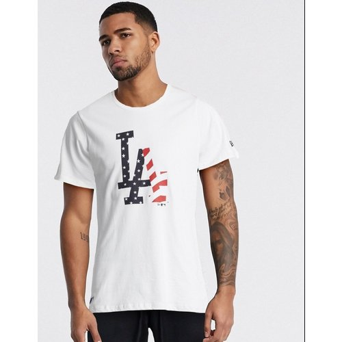LA Dodgers - T-shirt à logo LA façon drapeau américain - new era - Modalova