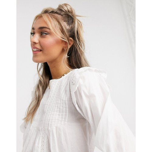 Blouse avec détail en broderie anglaise - New Look - Modalova