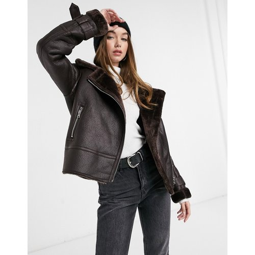 Blouson aviateur - Chocolat - New Look - Modalova