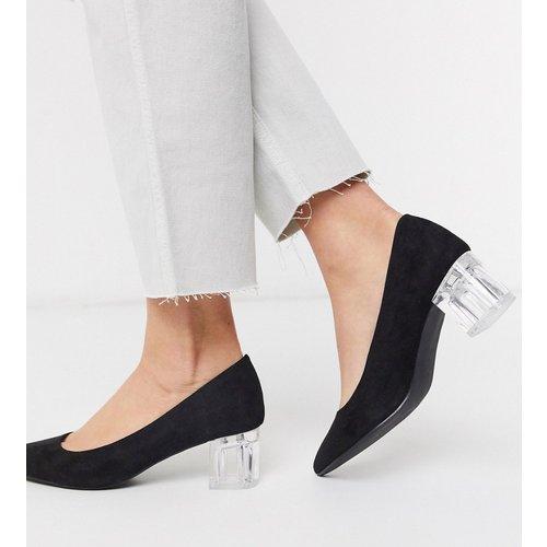 Chaussures à talon carré transparent - New Look - Modalova