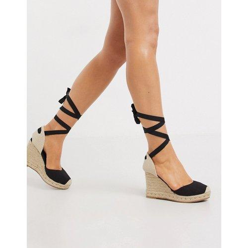 Chaussures compensées nouées style espadrilles - New Look - Modalova