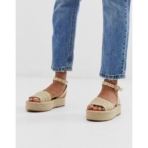 Chaussures plateforme à motif tissé - Jaune - New Look - Modalova