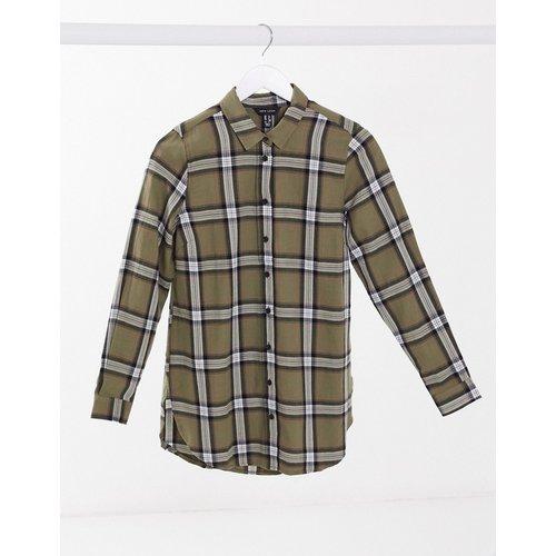 Chemise à carreaux - Kaki - New Look - Modalova