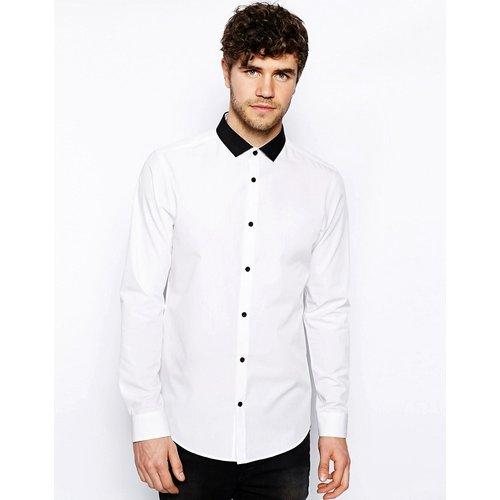 Chemise à col contrastant - New Look - Modalova