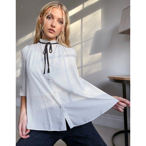 Chemise à cordons contrastants au col - New Look - Modalova