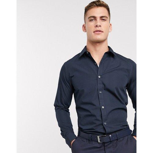 Chemise en popeline à manches longues - Bleu marine - New Look - Modalova