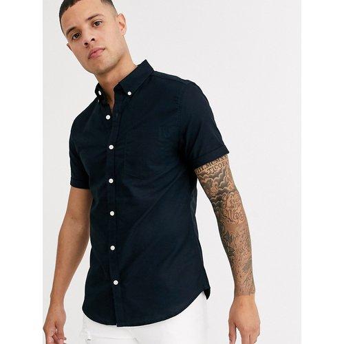 Chemise Oxford à manches courtes - Bleu marine - New Look - Modalova