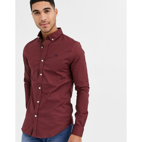 Chemise oxford moulante - Bordeaux - New Look - Modalova