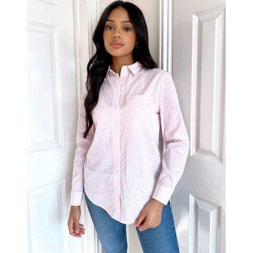 Chemise rayée à détail poche - New Look - Modalova