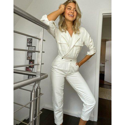 Combinaison en jean style bleu de travail - New Look - Modalova