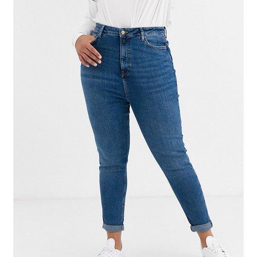 New Look Curve - Jean mom - Bleu - New Look Plus - Modalova