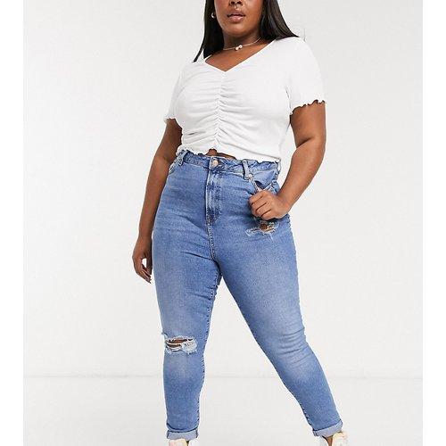 New Look Curve - Jean mom déchiré - moyen - New Look Plus - Modalova