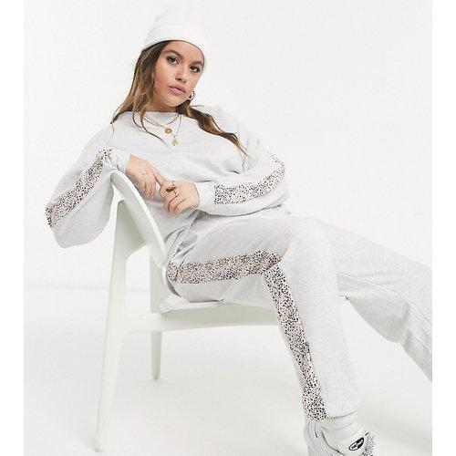 New Look Curve - Jogger d'ensemble à imprimé animal - clair - New Look Plus - Modalova