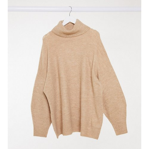 New Look Curve - Pull col roulé long à manches amples - Camel - New Look Plus - Modalova