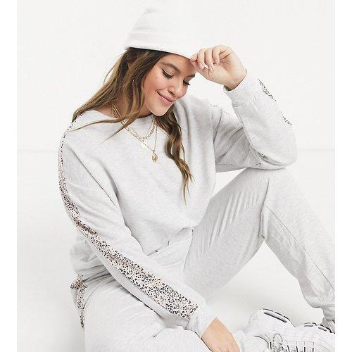 New Look Curve - Sweat-shirt d'ensemble à imprimé animal - clair - New Look Plus - Modalova