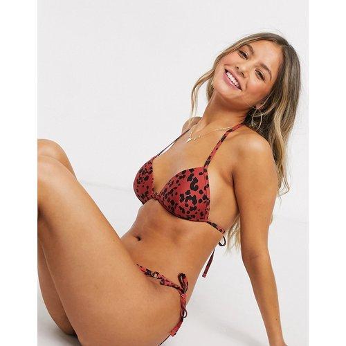 Haut de bikini à pois abstraits - Rouille - New Look - Modalova