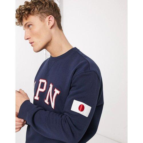 Japan - Sweat-shirt avec empiècement - Bleu marine - New Look - Modalova