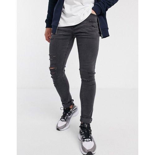 Jean skinny effet vieilli - Gris foncé - New Look - Modalova