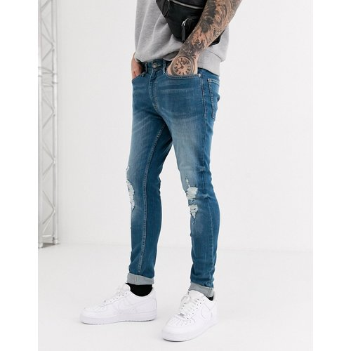 Jean super skinny déchiré - Délavage vintage - New Look - Modalova