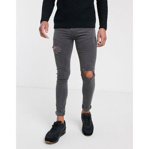 Jean super skinny déchiré - Délavé gris - New Look - Modalova