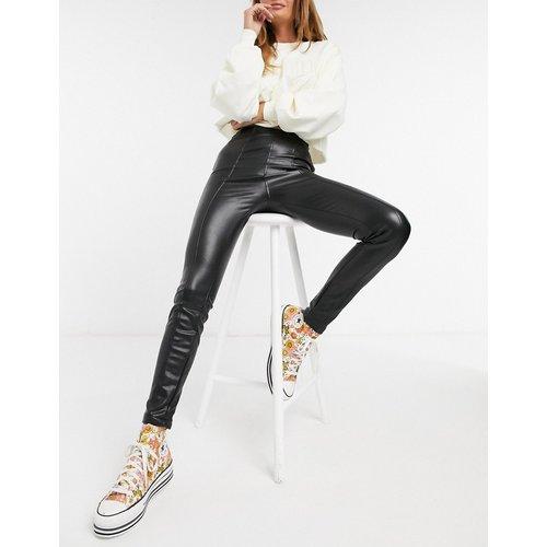 Legging en imitation cuir - New Look - Modalova