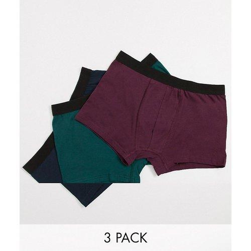 Lot de 3 boxers avec ceinture contrastante - Multicolore - New Look - Modalova