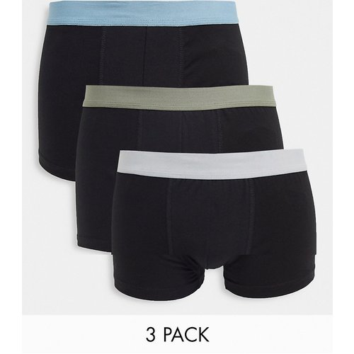 Lot de 3caleçons avec ceinture contrastante - clair et kaki - New Look - Modalova