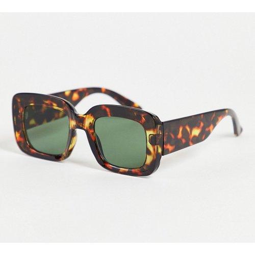 Lunettes de soleil oversize carrées - écaille de tortue - New Look - Modalova