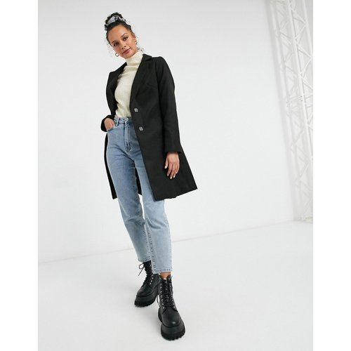 Manteau ajusté à ceinture - New Look - Modalova