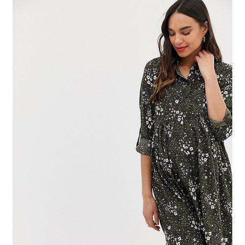 Robe chemise à motif - New Look Maternity - Modalova