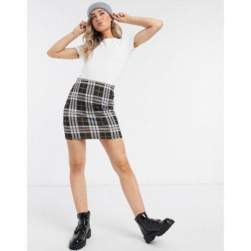 Mini-jupe à carreaux - à motif - New Look - Modalova