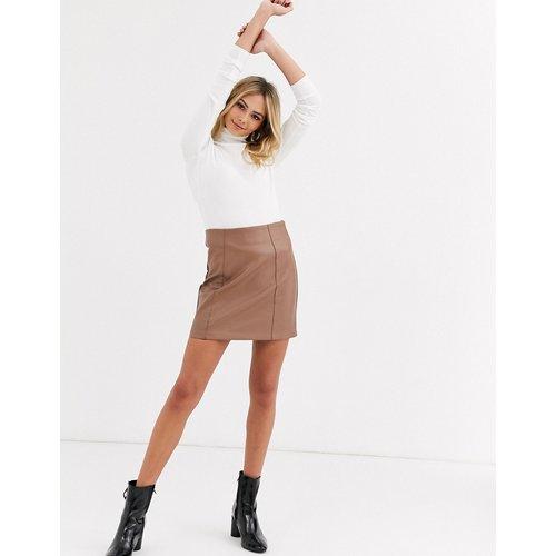 Mini-jupe en similicuir - New Look - Modalova
