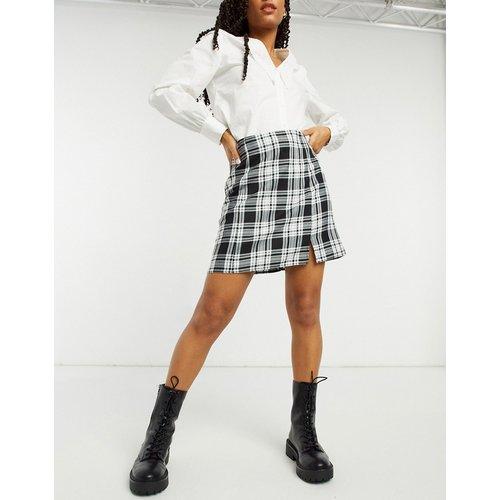 Mini-jupe fendue à carreaux - New Look - Modalova