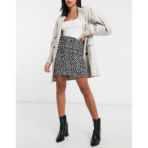 Mini-jupe froncée à pois - New Look - Modalova