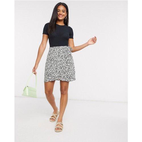 Mini-jupe portefeuille à fleurs - New Look - Modalova