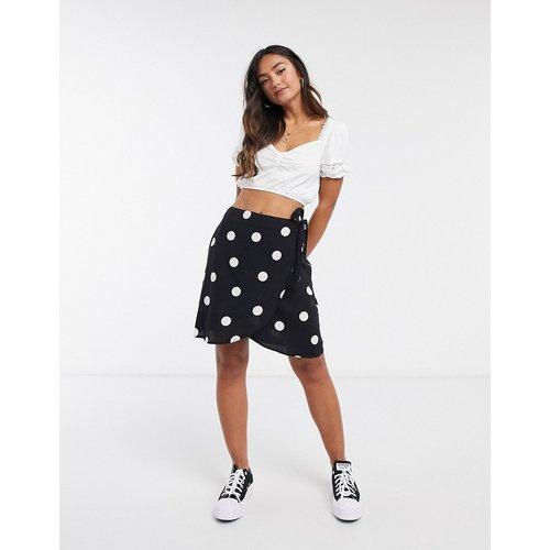 Mini-jupe portefeuille à pois - New Look - Modalova