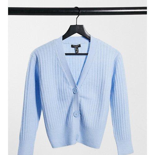 Cardigan côtelé et boutonné - pastel - New Look Petite - Modalova