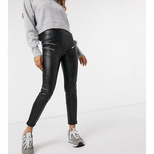 Legging effet cuir - New Look Petite - Modalova
