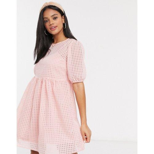 Robe babydoll avec fond de robe - Vichy - New Look - Modalova