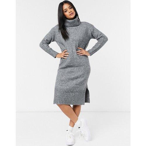 Robe pull col roulé mi-longue en maille - New Look - Modalova
