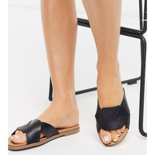 New Look - Sandales style mules plates tissées pointure large - New Look Wide Fit - Modalova