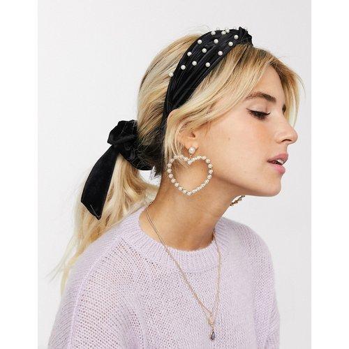 Serre-tête orné de perles avec nœud - New Look - Modalova