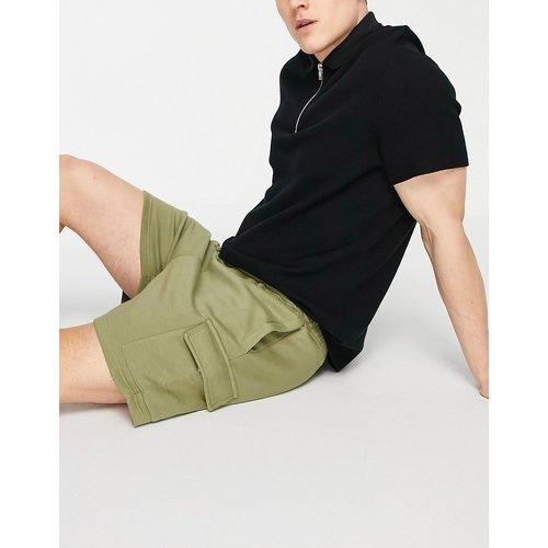 Short cargo en jersey - Kaki - New Look - Modalova