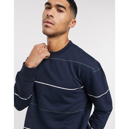 Sweat-shirt à rayures - Bleu marine - New Look - Modalova