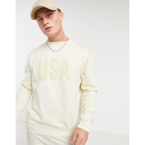 Sweat-shirt avec imprimé USA en maille bouclée - New Look - Modalova