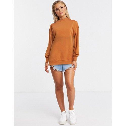 Sweat-shirt effet brossé - Rouille - New Look - Modalova