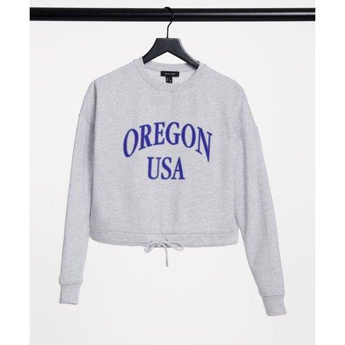 Sweat-shirt noué à la taille à imprimé Oregon - New Look - Modalova