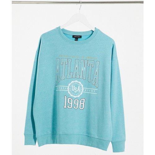 Sweat-shirt oversize à motif Atlanta - Bleu vif - New Look - Modalova