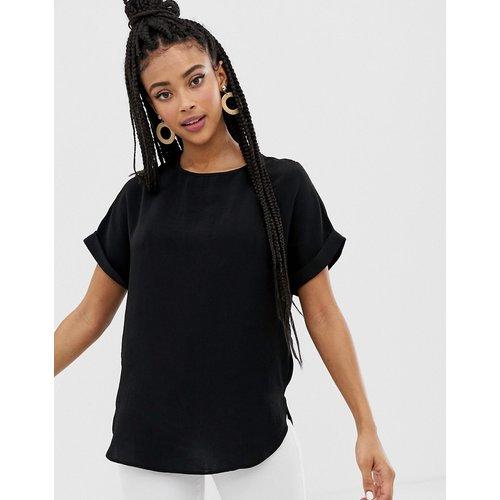 T-shirt avec manches à bord roulé - New Look - Modalova