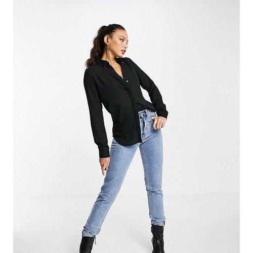 Chemise unie boutonnée - New Look Tall - Modalova